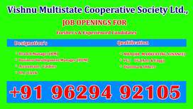 Front Office Staffs Wanted in Cooperative Bank