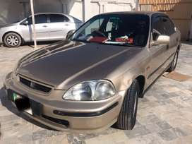 Honda civic model 96 and Registered 98.
