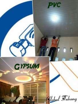 Layanan Gypsum dan PVC berkualitas dan awet
