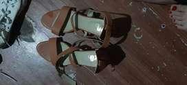 Block heel . 2.5 inches size- 38