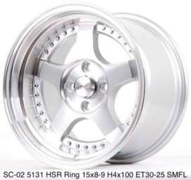 harga velg hsr wheel - sc02 hsr ukuran ring 15 city fiesta march yaris