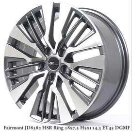 model velg hsr terbaru FAIRMONT JD8382 HSR R18X75 H5X114,3 ET45 DGMF