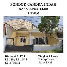RUMAH PONDOK CANDRA / TJANDRA INDAH NANAS 1 LANTAI SPORTCLUB SIDOARJO