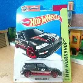 Hot wheels hotwheels 1990 Honda Civic EF black hitam