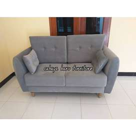 Sofa scandinavian , double sandaran , warna custome .