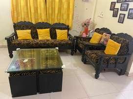 Sofa + Centre Table + Cushions