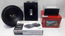 paket fireell/lm audio + head unit mirolink konek hp android