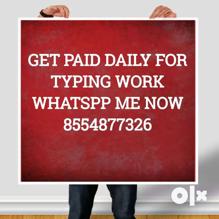 Typing work from home with daily payment 0