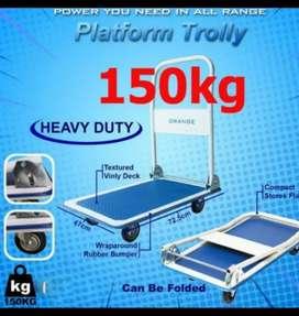 Hand trucuk trolley lipat dorongan barang 150 kg troli galon belanja