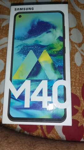 1 month old Samsung m40 with bill 6 GB ram and 128gb rom