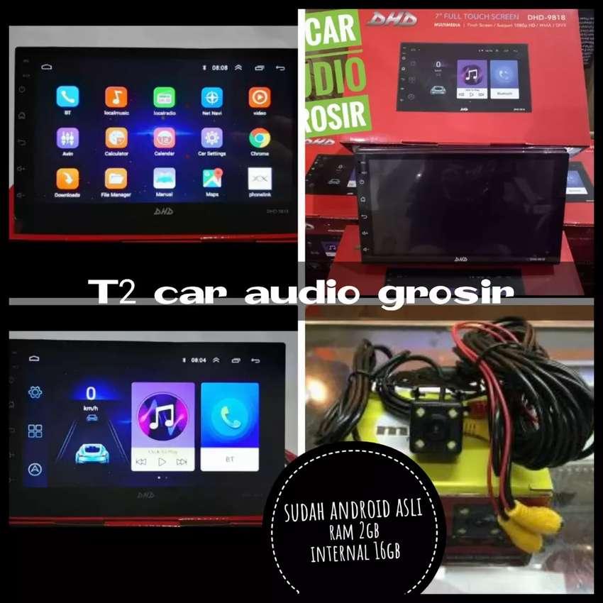 Tercanggih 2din ANDROID ASLI LED 7INC merk DHD plus camera hd mumer 0