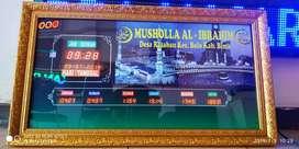 Jam Digital Shalat utk Masjid dan Mushalla Murah dan Setting Otomatis