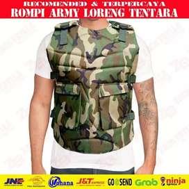Rompi army model loreng penahan angin