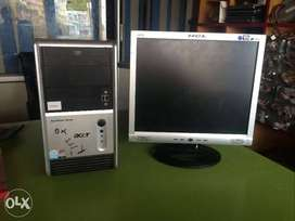 """Branded acer Amd Dual core Full Set computer (2gb/160gb) 17""""Lcd Warnty"""