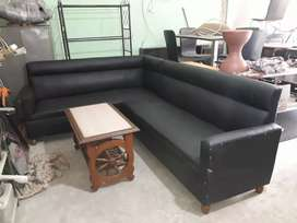 Hometown 3+3 leatherette sofa set almost in New condition