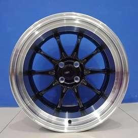 Velg Mobil Ring 17 Lebar Belang HSR Wheel HIROSHIMA Buat Avaza dll