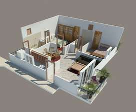 3bhk flat for sale 45laks