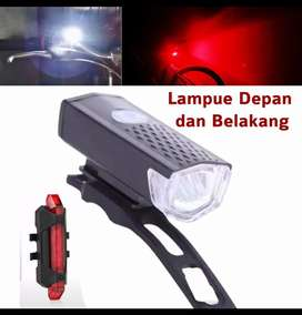 Lampu Depan belakang LED USB Rechargeable Anti air