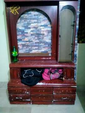 Dressing table with drawers and stool