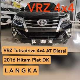 Fortuner VRZ TetraDrive 4X4 AT Diesel 2016 Hitam Plat DK