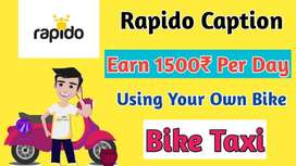 Rapido - Full time & Part time Bike Taxi