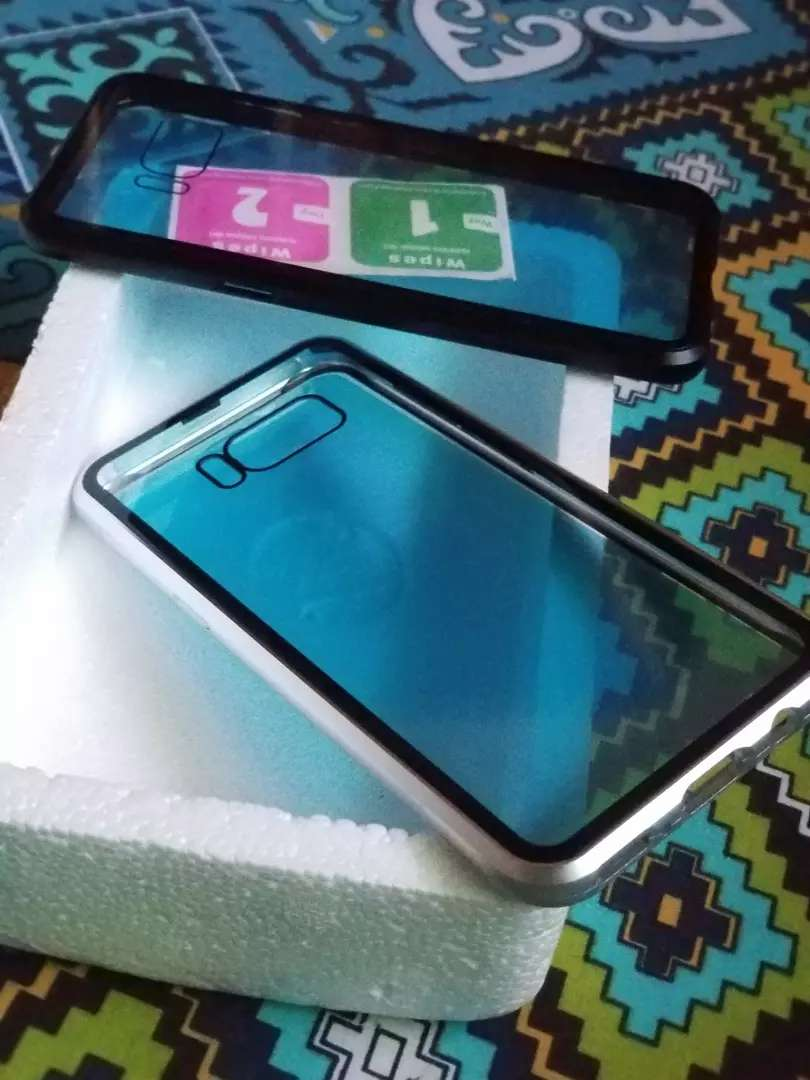 S8  magnetic cover double glass Rs 850