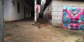 one and half kattha plot for rent with 6 half built rooms