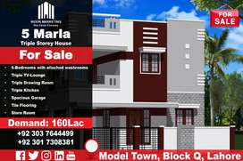 5 Marla Triple Storey House for Sale in #Model_Town, #Block_Q ,#Lahore