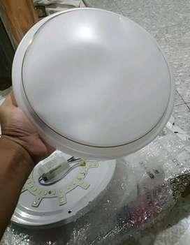 Dekorasi Lampu LED Plafon Modern 24W 28cm - White/Gold ( Bisa COD )