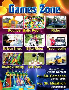 Games zone and events contact s