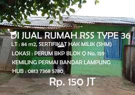Rumah Rss 36 di Kota Bandar Lampung