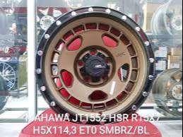 velg racing untuk mobil ertiga dll. MAHAWA JT1552 HSR R15X7 H5X114,3
