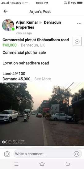 Commercial plot in dehradun