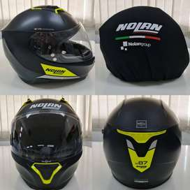 Jual helm nolan N87 emblema flat black 072 full face - 99%