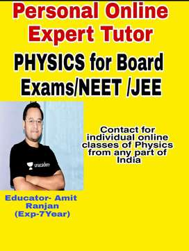 Personal Expert Online Tutor for PHYSICS