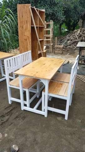 Meja kursi cafe warkop rumah makan dll