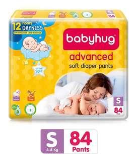 Babyhug diaper quantity 84 size small