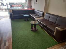 8 seats,Corner sofa for sale with two modified wooden tables
