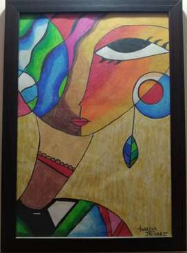 A3 Size painting with frame for Sell