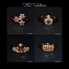 Gold Plated Zircon Rings