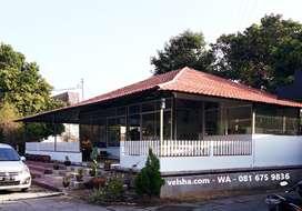 Dijual Rumah Pabrik Cafe Luas nyaman Tengah Kota