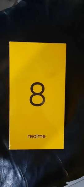Realme 8 ram 8 giga 128 giga baru segel dos