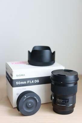 Jual Sigma ART 50mm F1.4 Canon Mulus