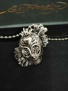 Kalung silver Ed~Hardy