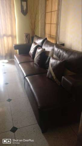 Leatherite Brown Sofa Set
