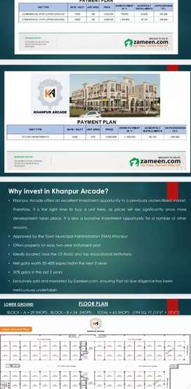 Ideal Shops and Appartments for Sale at Khanpur Arcade