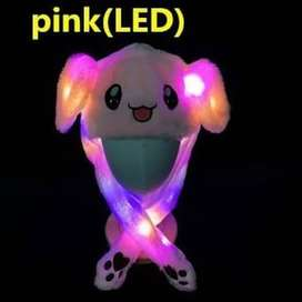 Ready JKT topi kupluk bando LED kelinci rabbit bunny dance hat twice -