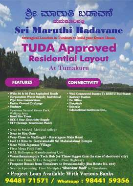 *Just 1km to Madhugiri - Koratagere Main Road* Free hold Land for sale