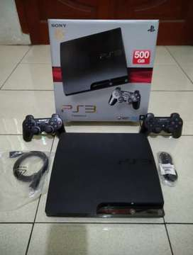 Playstation/PS 3 Slim 500 Gb full 50 game 2 Stik fullset harga murah