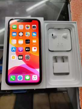 Unused Indian Apple iPhone 11 black with full kit and warranty.